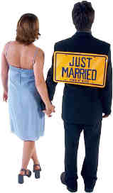 Couple Just Married. All the steps to getting married are in our Marriage Guide.